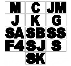 Letras de identificação de categorias (kart)